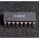 4035 ( CD 4035 BE = 4-stage Shift Register, Serial/Parallel to